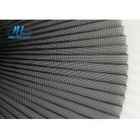 China Pleated Mesh 16mm Plisse Fiberglass Replacement Screen Grey 2.5m*30m PP on sale