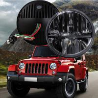 "Quality 60W 7"" Fog Jeep LED Headlights With Hi / Lo H4 Or H13 For Wrangler JK wholesale"