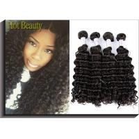 China Deep Curl Virgin Peruvian Hair Extensions Unprocessed Peruvian Hair Bundles 3 Pcs A Lot on sale
