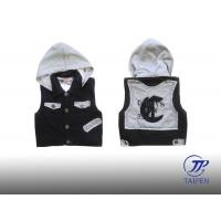 Quality Warm Boys Sleeveless Autumn Baby / Toddlers Fleece Jackets Vest with Hood wholesale