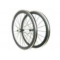 Quality Carbon Alloy Clincher Wheelset , R36 Hub Carbon Wheels With Alloy Braking Surface wholesale