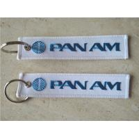 Buy cheap Pan Am Logo Fabric Embroidery Keychain Key Ring from wholesalers