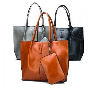 Quality 2019 Wholesale Leather lady bags women handbag 2 pcs sets bags women tote bag Plus Wallet women tote bag wholesale