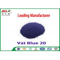 Quality C I Vat Blue 20 Dark Blue Bo Dyeing Of Cotton With Vat Dyes AAA Credit wholesale