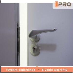 China Decorative Elegant Wooden Swing Door , MDF Single Panel Interior Doors on sale