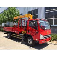 Quality 4 X 2 8 Tons / 3 Ton Truck Mounted Crane , 143kw Power Truck Loader Crane wholesale