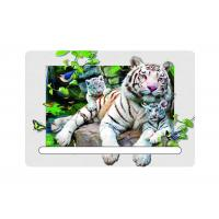 Quality 0.6mm Pet 5d Attractive White Tiger 7x11cm Magnets With Notepad  For Refrigerator wholesale