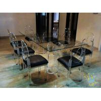 Quality acrylic kitchen table sets cheap wholesale