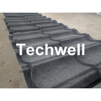 Quality Sand Metal Stone Coated Roof Tile Machine , Steel Roof Tile Production Line wholesale