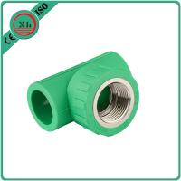 China Reliable PPR Female Threaded Tee Green / White Color Smooth Internal Surface on sale