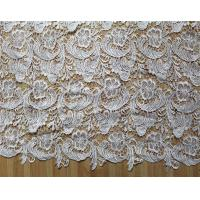 Quality Garment Accessories Chemical Lace Fabric  Water Soluble lace fabric in White Color wholesale