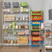 China 6-Tier New Chrome Plated Wire Rack Kitchen Storage Steel Shelving Unit 36W X 18D on sale