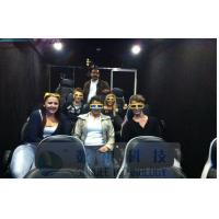 Quality Mobile 6D Movie Theater Simulator With Audio / Broadcast System And Polarized Glasses wholesale