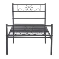 China Environmental Metal Platform Bed , Black Cast Iron King Size Bed Frame on sale