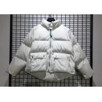 Quality White Winter Puff Jacket Ladies Warm Parka Womens With Big Pockets In Fashion Style wholesale