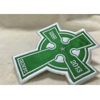 Quality Beautiful Oval Custom Clothing Patches Embroidered Sew On Badges Eco - Friendly wholesale