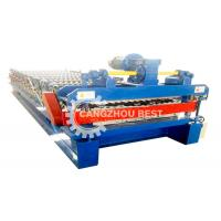 China Metal Floor Deck Roll Forming Machine With Hydraulic Steel Cutting And Electric Rolling Machine on sale