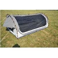 Quality Fire Prevention 2 Person Swag Tent , Canvas Camping Swag Tent Sun Shelter wholesale
