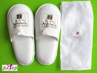 Quality 44 42 Mens Close Toe White 100 % Microfiber Disposable Hotel Slippers wholesale