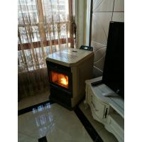 Quality Big Heat Output Indoor Pellet Stove Fake Electric Fireplace Multi Function wholesale