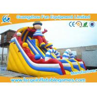 Quality Popular Yellow Commercial Inflatable Slide Slip N Slide Water Slide For Playground wholesale