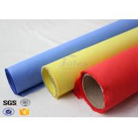 Quality Red Silicone Rubber Coated Fiberglass Engineer Acoustic Insulation Fabric Material wholesale