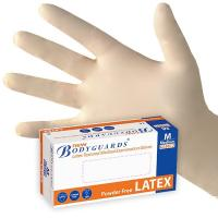 Quality 100% natural rubber latex disposable examination glove wholesale