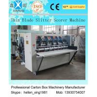 Quality Corrugated Vertical Cutting Paper Slitting Carton Machine For Pressing / Folding wholesale