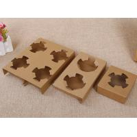 Quality Durable Takeaway Food Packaging Kraft Paper Cup Holder For Two Bubble Tea Cups wholesale