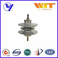 Cheap 3 Phase Metal Oxide Surge Arresters , Station Class Lightning Protector for Distribution for sale