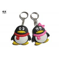 Quality Penguin 3d Printed Keychain , Lovely Cartoon Character Keychains For Couple wholesale
