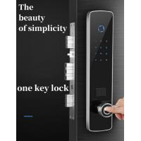 Quality Stainless Steel Panel Intelligent Door Lock With Tempered Glass Screen wholesale
