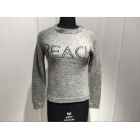 Quality Ladies 7Guage Knitted Wool Nylon Alpaca Long Sleeve embroidery Crew Neck Sweater Pullover wholesale