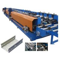 China Electronically Controlled Customized Roll Forming Machine For Cable Ladder Production on sale
