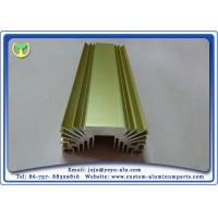 Quality Golden Anodized Extruded Aluminum Profile Radiators / Heat Sink 6063- T5 wholesale