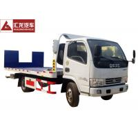 China Hydraulic Ramp Roll Off Tow Truck , Dongfeng Car Carrier Tow Truck Diesel Engine on sale