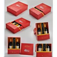 Quality rigid two bottle  wine packaging box wholesale