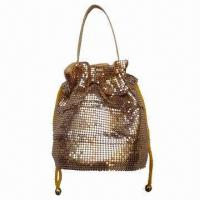 Buy cheap Drawstring Pouches, Constrictive Style, 4mm Aluminum Mesh, OEM Orders are from wholesalers