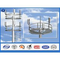 Quality Q345 steel material monopole telecommunications tower  6 - 28 mm Thickness wholesale