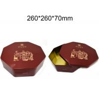 Quality Metal Octagonal Shape Empty Custom Packaging Boxes Hinged Tins Containers Durable wholesale