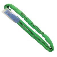 Quality Green Lift All Polyester Slings , 2 Ton Lifting Straps Wide Bearing Surface wholesale