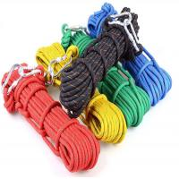 Cheap dia:10.5mm Nylon 32 braided safety outdoor rock tree climbing static escape rescue rope cord for sale