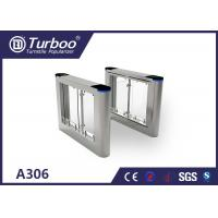 Cheap High Speed Flap Barrier Gate / Controlled Access Gates With Infrared Sensors for sale