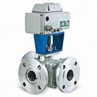 Quality Electric Three-way Ball Valve with Trunnion Type and 20 to 500mm Nominal Diameter wholesale