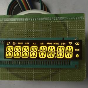 Quality Common Cathode Custom LED Display Ultra Bright Amber 8 Digit 14 Segment Long Lifespan wholesale