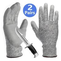 Quality Grey PU Coated Cut Resistant Gloves Non Slip Breathable Barehand Sensitivity Work Gloves For Fishing wholesale