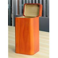 Quality Handmade Wood Jewelry Boxes For Women Large Storage Case , Orange Color wholesale