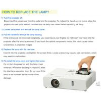 How to replace the projector lamps 1