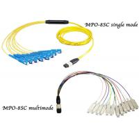 Fiber Optic Breakout Cable / QSFP Breakout Cable MTP MPO to 12 Fan Out SC