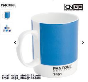 Quality Export PANTONE colors cup 375C 230C Color numbers ceramic mug wholesale